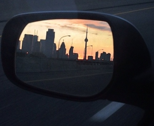 City in the Side Mirror